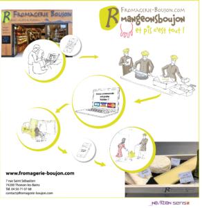 Fromagerie Boujon : simplicité de service